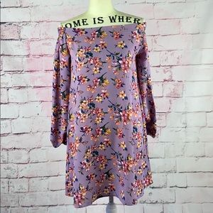 LOVE @FIRST SIGHT Lavender Floral LongSleeve Dress